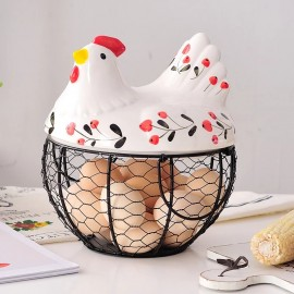 image of Creative Chicken design Egg Storage Basket