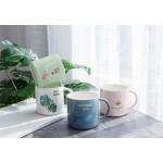 Nordic Monstera Deer Crown Rabbit Porcelain Coffee Mug Ceramic Cup for Coffee Tea Milk Gift