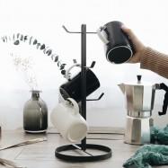 image of Mug Stand - Rack Coffee Tea Storage Hanger Cup Organizer Holder with 6 Hooks