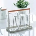 Wood Handle Iron 6 Cups Storage Rack