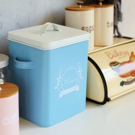 image of Zakka Living Blue Flour Container