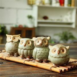 image of Zakka Living Home Decor Mini Owl Set