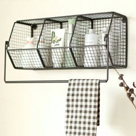 image of Zakka Living Metal Wall Rack