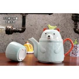 image of Zakka Living Cute Bear Bear Teapot Set