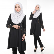image of Blouse Bella Muslimah Fashion Nursing & Wudhu Friendly Zip Depan Cut A