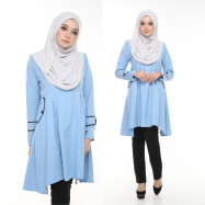 image of Blouse Bella Muslimah Fashion Nursing & Wudhu Friendly Zip Depan Cut A