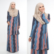 image of Baju Kurung Moden Adiva Korean Lycra Muslimah Wear Zip Depan