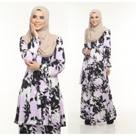 image of Kurung Moden Adiva Korean Lycra Nursing Friendly Less Iron Muslimah Wear
