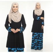 image of Kurung Moden Adiva Korean Lycra Nursing Friendly Less Iron Muslimah Wear