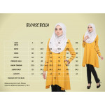 Blouse Bella Muslimah Fashion Nursing & Wudhu Friendly Zip Depan Cut A