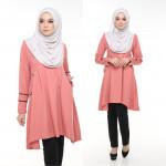 Blouse Bella Muslimah Fashion Nursing & Wudhu Friendly Zip Depan Cut A