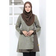 image of Blouse Mahsuri Muslimah Pocket Di Kanan - Grey