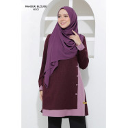 image of Blouse Mahsuri Muslimah Pocket Di Kanan - Purple