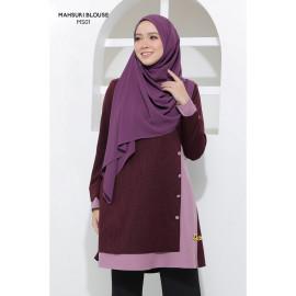 image of Blouse Mahsuri Muslimah Pocket Di Kanan - Purple