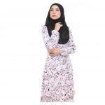 Baju Kurung Moden Adiva Korean Lycra Less Iron Muslimah Wear