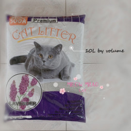 image of Premium Cat Litter With Baking Soda 10 L X 3 Bags (Rose, Lemon, Lavender, Apple)