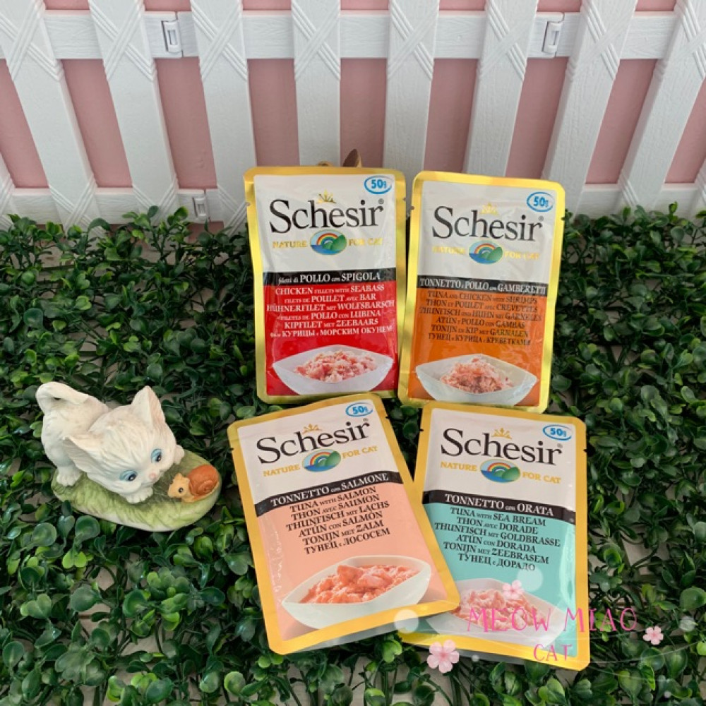 Schesir Nature Pouch Wet Food For Cat