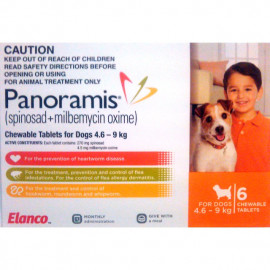 image of Panoramis For Small Dogs 4.6-9kg 6 Pack (Orange)