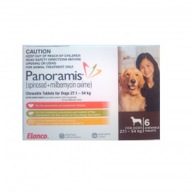 image of Panoramis BROWN For Dogs 27.1-54kg (6 Tablets / Box) / Control Fleas