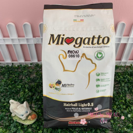 image of Miogatto HairBall Light 0.5 Cat Food 1.5kg Chicken