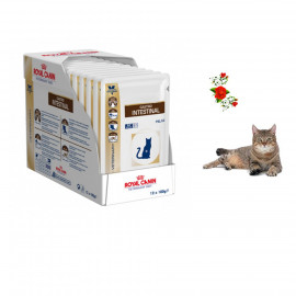 image of FREE GIFT- LIMITED~Royal Canin Gastro Intestinal Wet Food For Cat 12 X 100g