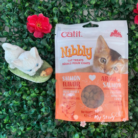 image of Catit Nibbly Treats Salmon 90g / For Training