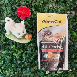 image of Gim Cat Nutri Pockets Salmon & Omega 3&6 60g Per Bag