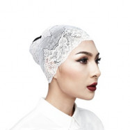 image of Semlouis 3 In 1 Anak Tudung Lace Clasis Turban - Hitam / Putih / Pink / Ungu