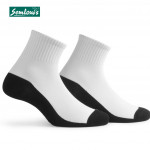 Semlouis 3 In 1 Ankle Socks - White Socks With Dark Grey Base