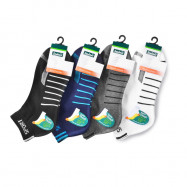image of Semlouis 4 In 1 Sport Ankle Cotton Base Socks - 6 Lines Pattern