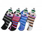 Semlouis Ladies Low Cut Socks - Colourful Stripes