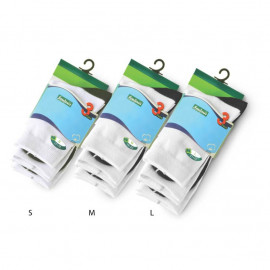image of Semlouis 3 In 1 Quarter Crew Socks -White With Dark Grey Base