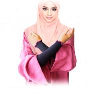 image of Semlouis (4 In 1 X 4 Pack) Aurat Sarung Lengan Ruffle - Hitam