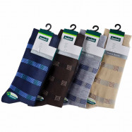 image of Semlouis 4 In 1 Men's Quarter Crew Socks - 5-Lined Squares