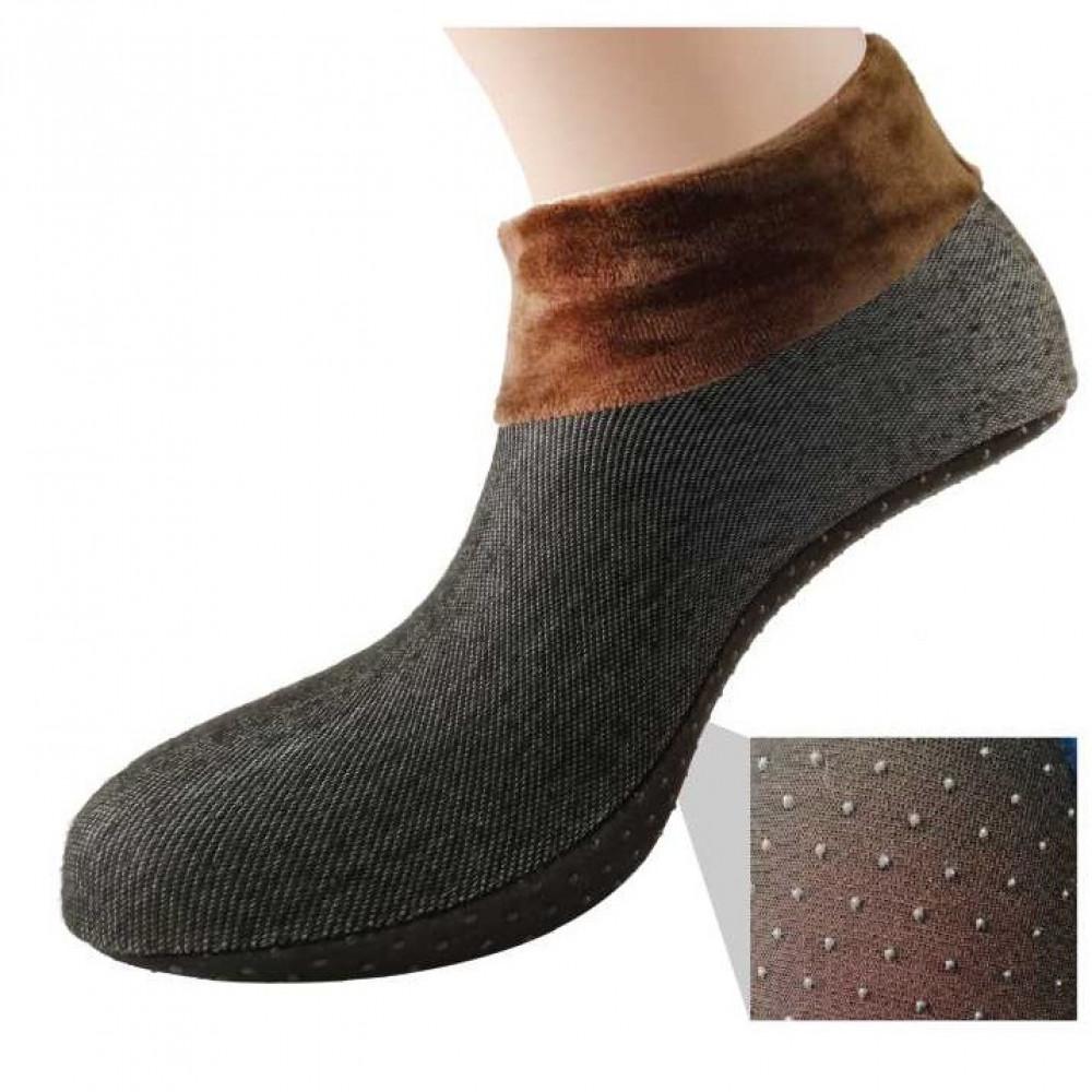 Semlouis Aurat Sarung Kaki Tawaf Anti-Slip Tebal Paras Ankle - Plain
