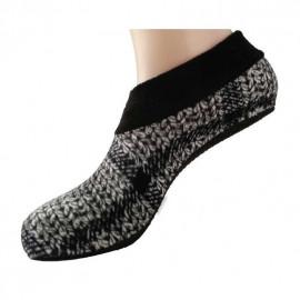 image of Semlouis Aurat Sarung Kaki Tawaf Anti-Slip Tebal Paras Ankle - Berpetak