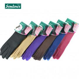 image of Semlouis 2 In 1 Aurat Sarung Tangan Cotton Panjang Paras Siku - Plain