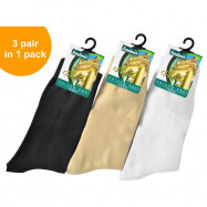 image of Semlouis 3 In 1 Aurat Sarung Kaki Paras Ankle - Tebal / Ankle High Socks - Thick