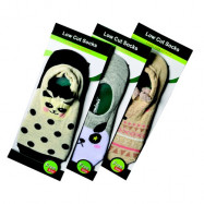 image of Semlouis 3 In 1 Foot Cover Low Cut Socks - Cute Animal Face Printed