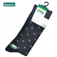 "image of Semlouis 4 In1 Men's Quarter Crew Socks - Printed ""X"""