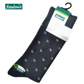 """image of Semlouis 4 In1 Men's Quarter Crew Socks - Printed """"X"""""""