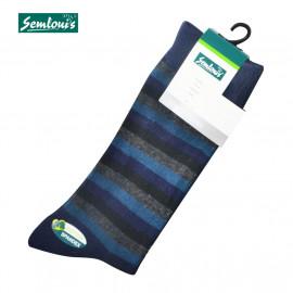 image of Semlouis 4 In1 Men's Quarter Crew Socks - Stripes