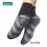 image of Semlouis 4 In 1 Aurat Sarung Kaki Tawaf Anti-Slip Tebal Paras Ankle - Berjalur