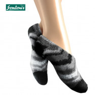 image of Semlouis 4in1 Aurat Sarung Kaki Tawaf Anti-Slip Tebal Paras Ankle-Berjalur Sudut