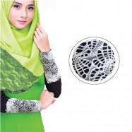 image of Semlouis Aurat Sarung Lengan Berenda Corak Bunga Daisi