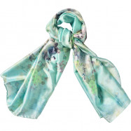 image of Semlouis Square Silk Scarf - Camellias