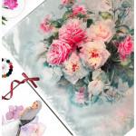 Semlouis Square Silk Scarf - Camellias