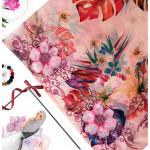 Semlouis Square Silk Scarf - Carnation