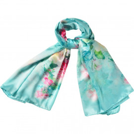 image of Semlouis Square Silk Scarf - Clover