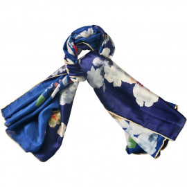 image of Semlouis Square Silk Scarf - Cherry Blossom